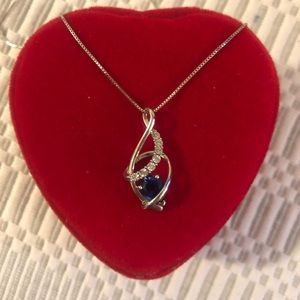 KAY Sapphire Pendant Necklace 💙 NEW!w/out box